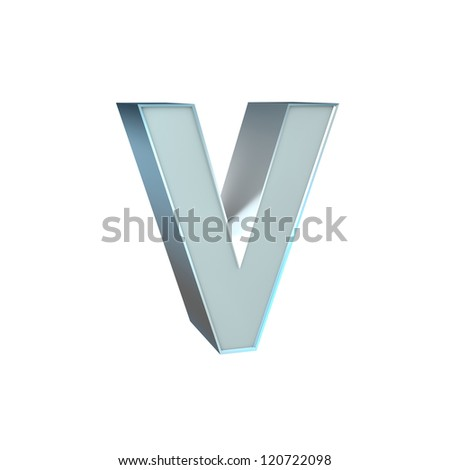 Silver Character Collection. V - stock photo