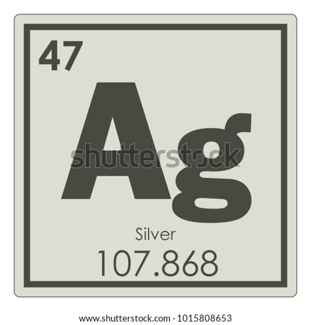 Silver chemical element periodic table science stock illustration silver chemical element periodic table science symbol urtaz Images