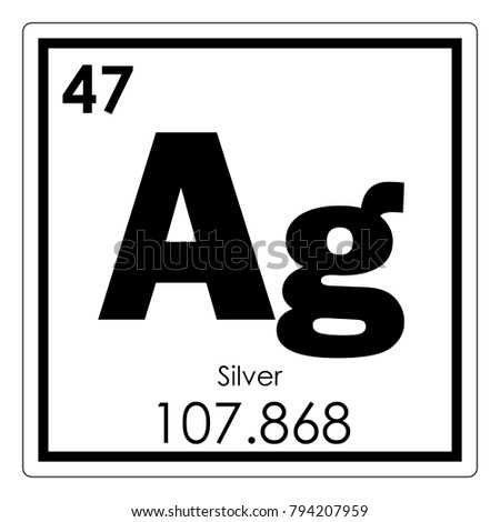 Silver chemical element periodic table science stock illustration silver chemical element periodic table science symbol urtaz Image collections