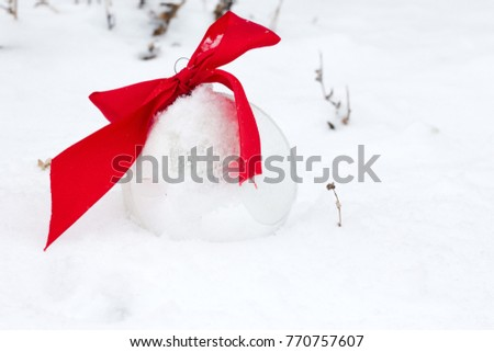 silver Christmas balls on white background