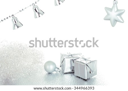 Silver christmas decoration - isolated over white