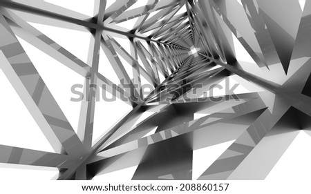 Silver construction concept rendered on white background rendered