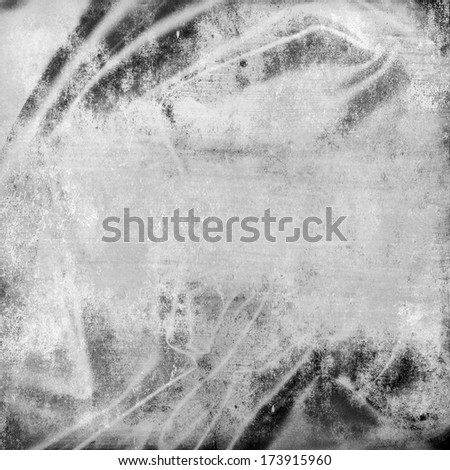 Silver distressed silk background texture - stock photo