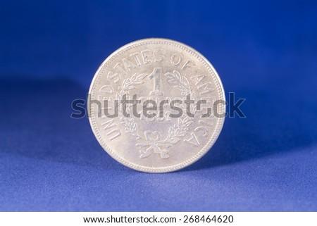 Silver dollar coin - stock photo