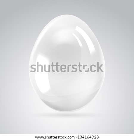 Silver egg on white background. Illustration.