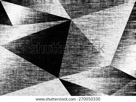 Silver fabric background, triangles, foil. Grey textile backdrop. Canvas texture. Polygonal geometric background. Low poly style - stock photo