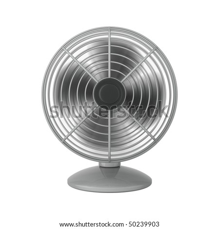 Silver Fan Isolated On White