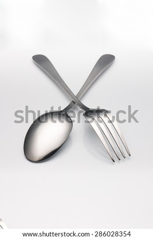 silver fork and spoon