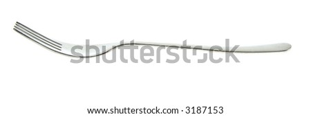 Silver fork isolated on white