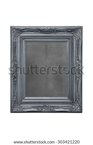 silver frame - isolated - stock photo