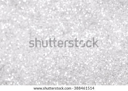 Silver glitter bokeh background - stock photo