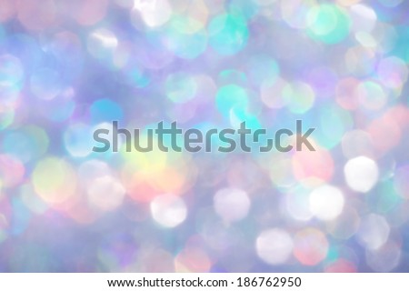Silver Glitter, Out of Focus Bokeh - stock photo