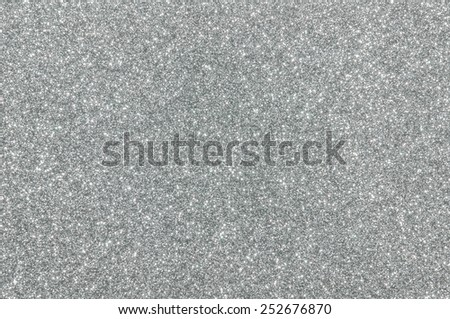 silver glitter texture christmas background - stock photo