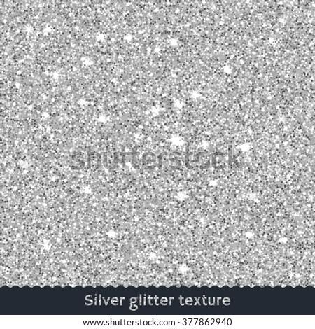 Silver glitter texture. Rasterized Copy - stock photo