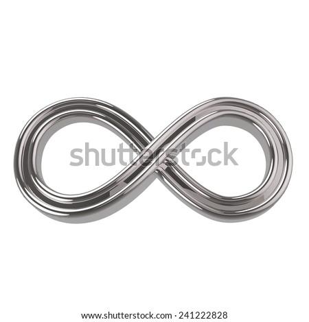 Silver Infinity Symbol - stock photo