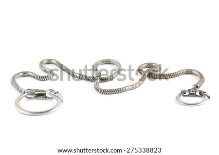 silver key chain isolated