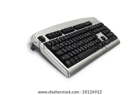 Silver keyboard isolated on the white background