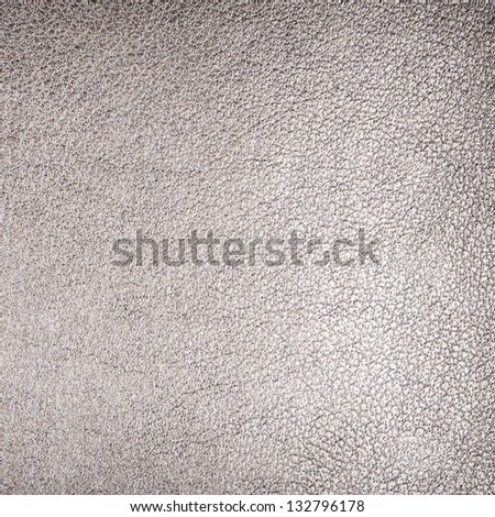 Silver leather background - stock photo