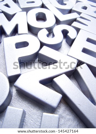 silver letters