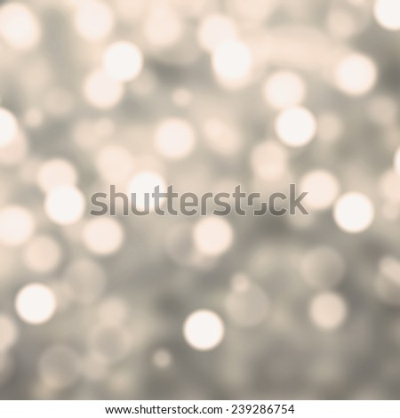 Silver Lights Festive Christmas  background with texture. Abstract Christmas twinkled bright background with bokeh defocused  lights - stock photo
