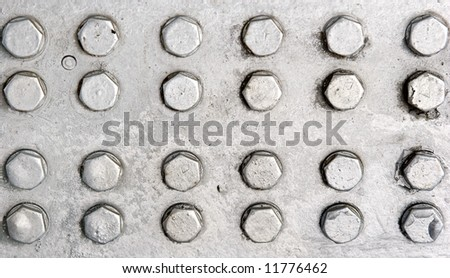 silver metal bolts - stock photo