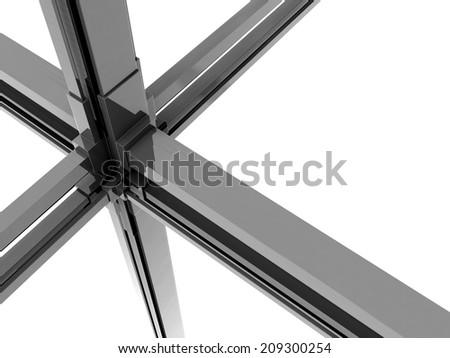 Silver metal dynamic block background 3d illustration - stock photo