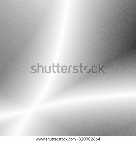 silver metal plate chrome background texture - stock photo