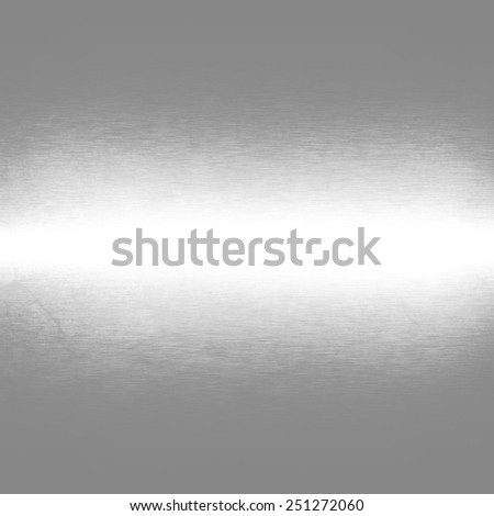 silver metal texture background and horizontal beam of light - stock photo