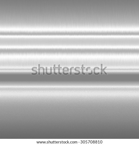 silver metal texture background horizontal lines of light abstract pattern - stock photo