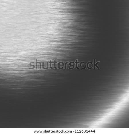 silver metal texture, dark chrome background - stock photo