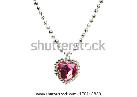 Silver pendant isolated on the white background - stock photo