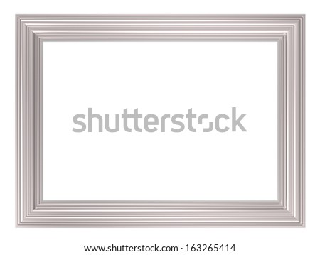 Silver picture frame. Computer generated 3D photo rendering. - stock photo