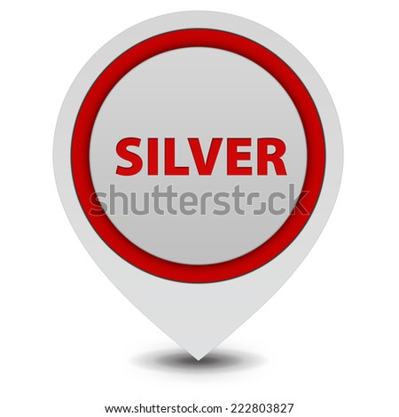 Silver pointer icon on white background