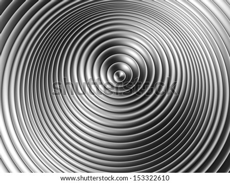 Silver ripple background 3d illustration - stock photo