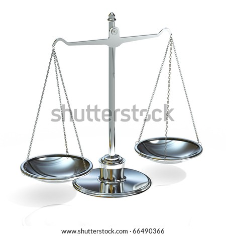 silver scales  on a white background - stock photo