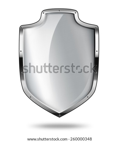 Silver shield with shadow