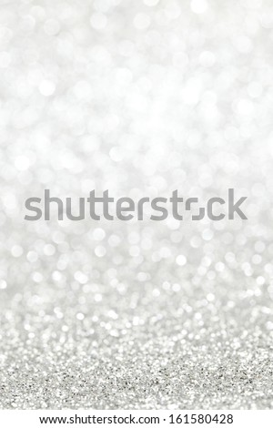 Silver shiny bright christmas bokeh background - stock photo