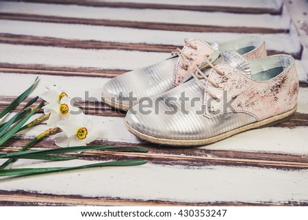 silver shoes Italian shoes women shoes