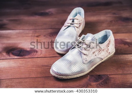 silver shoes Italian shoes women shoes fashion