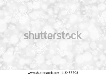 Silver Snowflake backdrop - stock photo