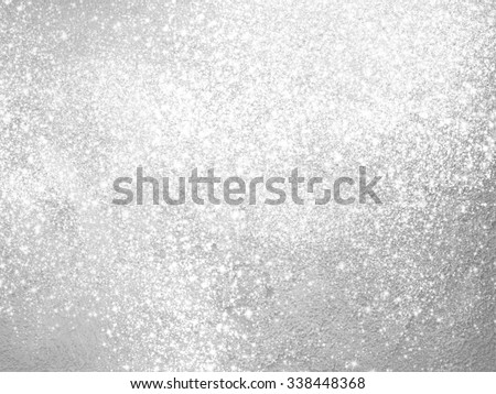 Silver sparkle background - abstract light grey design - stock photo