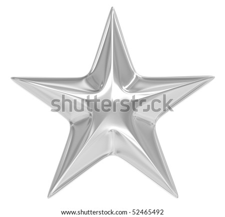 silver star over white