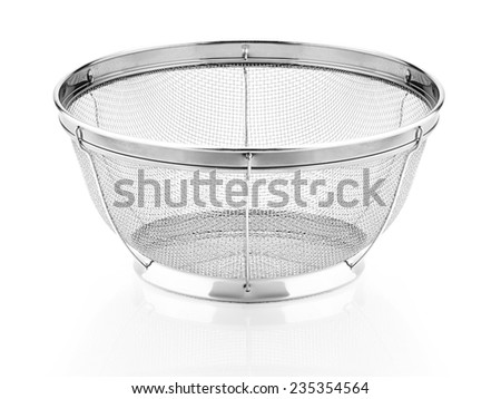 Silver Strainer - stock photo