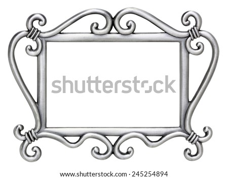 Silver Swirl Picture Frame - stock photo