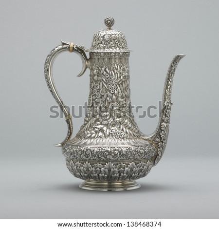 Silver Teapot - stock photo