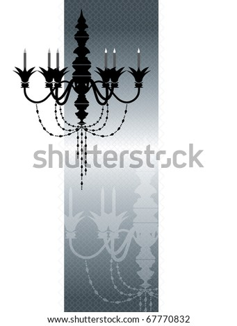 silver vintage template - stock photo