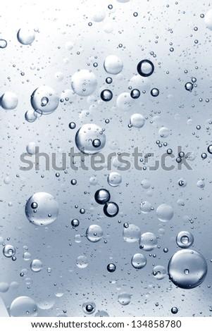 Silver water bubbles abstract light illumination. - stock photo