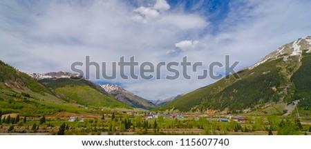 Silverton Valley, Silverton, Colorado - stock photo