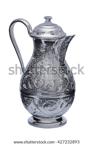 silverware, table silver, jug, jar, vase