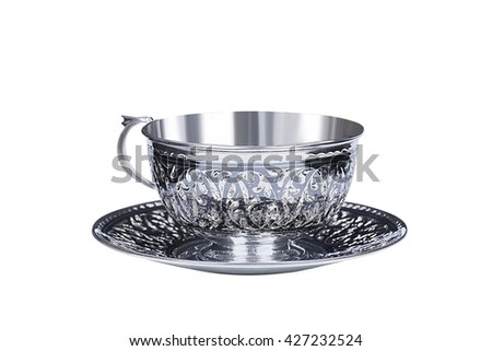 silverware, table silver, tea cup, coffee cup, plate